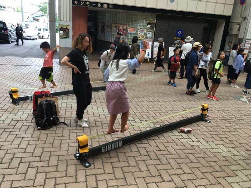 【体験会実施報告】小樽サンモール一番街のルフィエでスラックライン体験してきました